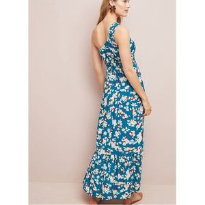Anthropologie Dresses - Anthropologie Bouquet One-Shoulder Maxi Dress